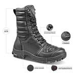 Coturno Tático Bota Militar Semi-Impermeável Moto Bmbrasil 5168/16 Preto