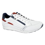 Sapatenis Masculino Jogger 2800/02 BCO/RED/NAVY