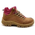 Bota Adventure Feminina 5400/30 Palha/pink