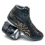 Bota Fitness Academia Crosfit 230/07 Textura Preto/dourado