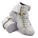 Tenis Dad Chunky Sneaker Feminina Bm Brasil 250/04 Branco