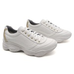 Tenis Dad Sneaker Chunky Feminina Bm Brasil 251/01 Branco