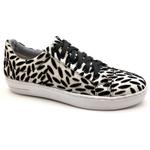 Sapato Feminino Casual Monet Bmbrasil 351/20 Textura Branco/preto
