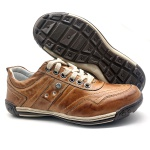 Sapato Masculino Casual Ortopédico Porshe Alanta 132/12 Caramelo