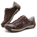 Sapato Masculino Casual Porshe Palmilha Ortopédica 147/03 Brown
