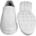 Sapato Confort Plus Bmbrasil De Couro Palmilha Em Gel Extra Leve 2711/05 Branco