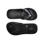 Chinelo Feminino Confortável - Ch06 Preto/preto Resina Azul