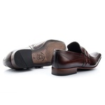 Sapato Social Masculino Solado De Couro Com Fivela 312 Mouro