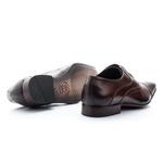 Sapato Clássico Masculino De Amarrar Mouro Solado De Couro 341 Mouro