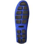 Sapatilha Calçado Mocassim Em Couro Feminino Casual 14000 Azul