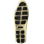 Sapatilha Calçado Mocassim Em Couro Feminino Casual 14000 Dourado