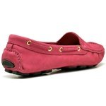 Sapatilha Calçado Mocassim Em Couro Feminino Casual 14000 Rosa