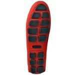 Sapatilha Calçado Mocassim Em Couro Feminino Casual 14000 Vermelho