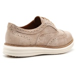 Sapato Oxford Plataforma Feminino Couro Nobuck 300 Areia