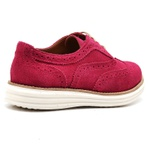 Sapato Oxford Plataforma Feminino Couro Nobuck 300 Fuscia