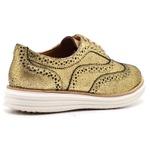 Sapato Oxford Plataforma Feminino Couro Nobuck 300 Ouro