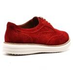 Sapato Oxford Plataforma Feminino Couro Nobuck 300 Vermelho