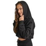 Cropped Moletom Feminino Infantil Liso Blusa Casaco Preto