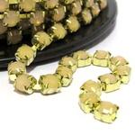 Corrente Ss29 - Pedra Salmon, Banho Dourado.