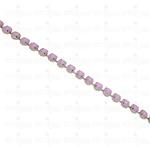 Corrente Mini Rivoli - Pedra Rosa Opal, Banho Níquel.