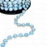 Corrente Mini Rivoli - Pedra Blue Opal, Banho Grafite.