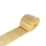 Manta de Strass Dourada, Cristal - 45x05cm