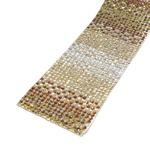 Tira de Strass Ombre - Dourado, 40x4cm.