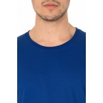 Camiseta Masculina Lisa 100% Algodão - Azul