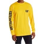 Camiseta Masculina Manga Comprida c/ Proteção UV - Amarela