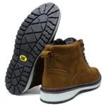 Bota Zip One - Osso + Camiseta Cinza