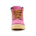 Coturno Feminino Couro Nobuck Pink 256c Atron Shoes