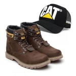 Bota Second Shift - Café + Boné Trucker Preto