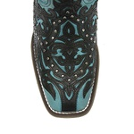 Bota Boho Western Turquoise