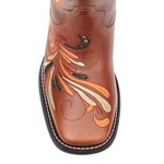 Bota Texana Premium Shiny Hummingbird Sweet Coffee