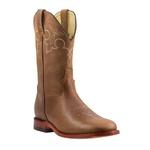 Bota Texana Premium Masculina Mangalarga Buf Macadâmia