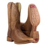 Bota Texana Premium Masculina Mangalarga Fossil Macadamia Solado Areia