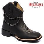 Bota Texana Feminina Mangalarga Black Chain