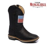 Bota Texana Masculina Mangalarga American Black