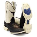 Bota Texana Masculina Naja Bico Quadrado Solado Bege