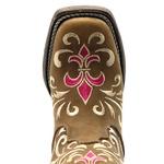 Bota Texana Feminina Hopper em Couro Legítimo Bordado Rosa