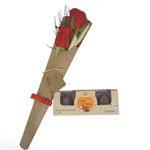 Dueto de rosas e Chocolate