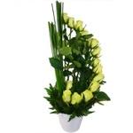 Ikebana de Rosas Brancas