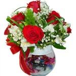 Arranjo de Flores e Bombons