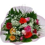 Buquê de Rosas coloridas em tela