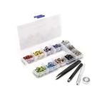 Kit Caixa 400 ilhós colorido aplicação manual