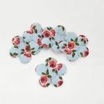 Aplique Flor M Cetim Provence Azul (pacote com 5 unidades)
