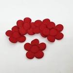 Aplique Flor M Cetim Vermelho (pacote com 5 unidades)
