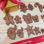 Botões MDF Coleção Natal Feliz