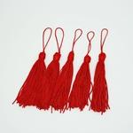 Tassel Cetim 7,5 cm - Vermelho (pcte com 5 unidades)