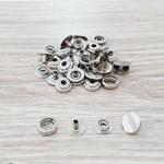 Botão de pressão /80 metal - Niquelado